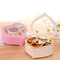 abordables Caja de Música-Caja de música Corazón Romántico Moda Rotativo Encantador Adultos Niños Regalo Unisex Regalo