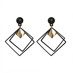 abordables Pendientes-Mujer Geométrico Pendientes colgantes - Simple, Moda Negro Para Casual Diario