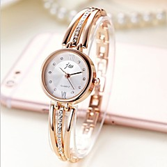preiswerte Damenuhren-Damen Armband-Uhr Quartz Armbanduhren für den Alltag Edelstahl Band Analog Armreif Modisch Silber / Gold - Silber Gold