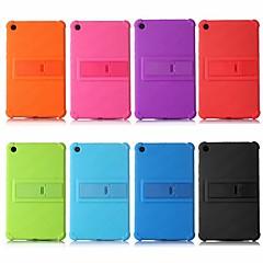 Недорогие Чехлы и кейсы для Xiaomi-Кейс для Назначение Xiaomi Xiaomi Tab 4 Защита от удара / со стендом Кейс на заднюю панель Однотонный Мягкий силикагель для Xiaomi Tab 4