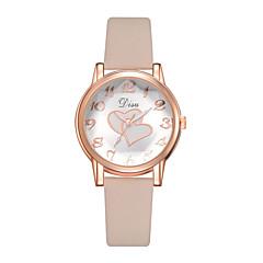 preiswerte Damenuhren-Damen Armbanduhr Quartz 30 m Kreativ PU Band Analog Freizeit Modisch Schwarz / Braun / Grau - Braun Schwarzbraun Rosa