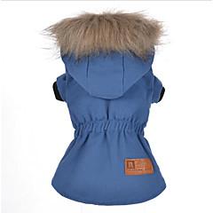 お買い得  犬用ウェア&アクセサリー-犬用 / 猫用 コート 犬用ウェア ソリッド / クラシック ブルー コットン コスチューム ペット用 男女兼用 保温 / ファッション