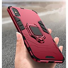 Недорогие Кейсы для iPhone X-Кейс для Назначение Apple iPhone XR / iPhone XS Max Защита от удара / Кольца-держатели Кейс на заднюю панель Однотонный Твердый ПК для iPhone XS / iPhone XR / iPhone XS Max