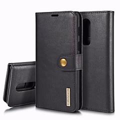 お買い得  その他のケース-ケース 用途 OnePlus OnePlus 6 カードホルダー / 耐衝撃 / フリップ フルボディーケース ソリッド ハード 本革 のために OnePlus 6