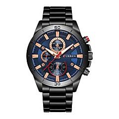 お買い得  メンズ腕時計-CURREN 男性用 ドレスウォッチ 日本産 日本産クォーツ ブラック 30 m 耐水 カレンダー 夜光計 ハンズ ぜいたく ファッション - ブラック / ブルー ブラック / ローズゴールド