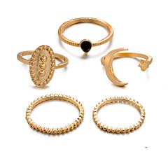 preiswerte Ringe-Damen Retro Knöchel-Ring Ring-Set Multi-Finger-Ring - Harz Stern, Halbmond Retro, Punk, Boho 8 Gold / Silber Für Geschenk Alltag Strasse / 5 Stück