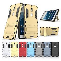 Недорогие Чехлы и кейсы для Nokia-Кейс для Назначение Nokia Nokia 7 Защита от удара / со стендом Кейс на заднюю панель Однотонный / броня Твердый ПК для Nokia 7