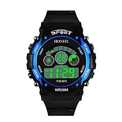 preiswerte Digitaluhren-Herrn Sportuhr Japanisch digital 30 m Wasserdicht Alarm Kalender Silikon Band digital Modisch Schwarz - Schwarz / Gelb Schwarz / Blau