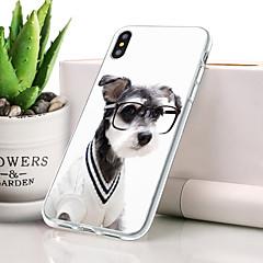 Недорогие Кейсы для iPhone-Кейс для Назначение Apple iPhone XR Защита от пыли / Ультратонкий / С узором Кейс на заднюю панель С собакой / Животное Мягкий ТПУ для iPhone XR