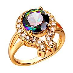 preiswerte Ringe-Damen Mehrfarbig Ausgeschnitten Ring - Modisch, Mehrfarbig Gold / Silber Für Verlobung Geschenk