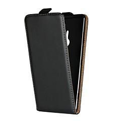 Недорогие Чехлы и кейсы для Sony-Кейс для Назначение Sony Xperia Z5 Mini / Xperia XA1 Ultra со стендом / Флип Чехол Однотонный Твердый Настоящая кожа для Sony Xperia Z3 / Z4 Mini / Sony Xperia Z4