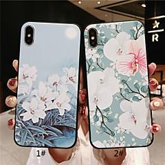 Недорогие Кейсы для iPhone 6 Plus-Кейс для Назначение Apple iPhone XR / iPhone XS Max Матовое / Рельефный / С узором Кейс на заднюю панель Цветы Мягкий ТПУ для iPhone XS / iPhone XR / iPhone XS Max