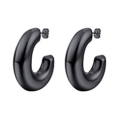 preiswerte Ohrringe-Damen Name Ohrring - Edelstahl Alphabet Form Modisch Gold / Schwarz / Silber Für Geschenk Alltag