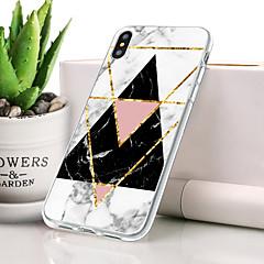 Недорогие Кейсы для iPhone-Кейс для Назначение Apple iPhone XR Защита от пыли / Ультратонкий / С узором Кейс на заднюю панель Мрамор Мягкий ТПУ для iPhone XR