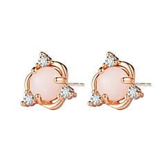 preiswerte Ohrringe-Damen Synthetischer Opal Klassisch Ohrstecker - Stern Einfach, Romantisch, Koreanisch Gold / Silber Für Party / Abend Verlobung Geschenk