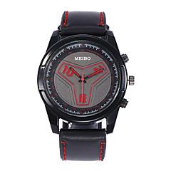 お買い得  メンズ腕時計-男性用 リストウォッチ クォーツ 30 m 耐水 新デザイン PU バンド ハンズ カジュアル ファッション ブラック - ホワイト レッド ブルー