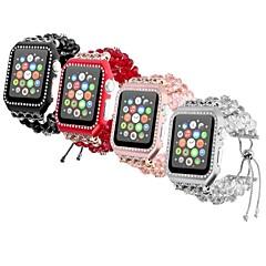 お買い得  腕時計用アクセサリー-金属シェル 時計バンド ストラップ のために Apple Watch Series 4/3/2/1 ブラック / 白 / レッド 23センチメートル / 9インチ 2.1cm / 0.83 Inch