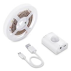 お買い得  LED ストリングライト-BRELONG® 1m ライトセット 30 LED 2835 SMD 温白色 USB / ボディセンサー 12 V 1個