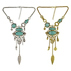 preiswerte Halsketten-Damen Quaste Y Halskette - Retro Gold, Silber 44+7 cm Modische Halsketten Schmuck 1pc Für Alltag