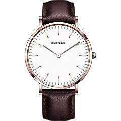 preiswerte Herrenuhren-Kopeck Armbanduhr Digitaluhr Sender Wasserdicht, Neues Design Schwarz / Kaffee / Braun / Japanisch / Echtes Leder / Japanisch