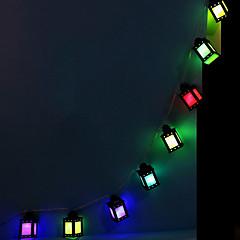お買い得  LED ストリングライト-1.5m ストリングライト 10 LED マルチカラー 装飾用 単3乾電池 1セット