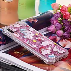 Недорогие Кейсы для iPhone-Кейс для Назначение Apple iPhone XR / iPhone XS Max Движущаяся жидкость / С узором Кейс на заднюю панель единорогом Мягкий ТПУ для iPhone XS / iPhone XR / iPhone XS Max