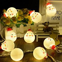 preiswerte LED Lichtstreifen-4m Leuchtgirlanden 20 LEDs Warmes Weiß Dekorativ AA-Batterien angetrieben 1 set