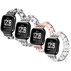 お買い得  腕時計ベルト-金属シェル 時計バンド ストラップ のために Apple Watch Series 4/3/2/1 ブラック / シルバー / パープル 23センチメートル / 9インチ 2.1cm / 0.83 Inch