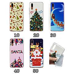 Недорогие Чехлы и кейсы для Huawei Mate-Кейс для Назначение Huawei P20 / P20 Pro С узором Кейс на заднюю панель Рождество Мягкий ТПУ для Huawei P20 / Huawei P20 Pro / Huawei P20 lite / P10 Lite