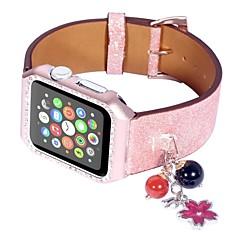 お買い得  メンズ腕時計-本革 時計バンド ストラップ のために Apple Watch Series 4/3/2/1 ブラック / シルバー / レッド 23センチメートル / 9インチ 2.1cm / 0.83 Inch