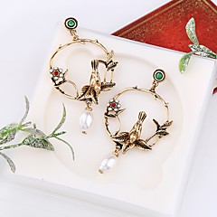 preiswerte Ohrringe-Damen 3D Tropfen-Ohrringe - Künstliche Perle Vogel Stilvoll, Klassisch Gold Für Alltag