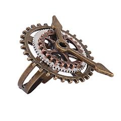 お買い得  指輪-女性用 レトロ オープンリング 調節可能なリング  -  合金 ギア レディース, 誇張, ファッション, Steampunk ジュエリー 青銅色 用途 マスカレード ストリート 調整可