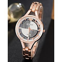 preiswerte Damenuhren-Damen Armbanduhr Quartz 30 m Wasserdicht Armbanduhren für den Alltag Edelstahl Band Analog Retro Modisch Silber / Gold / Rotgold - Gold Silber Rotgold