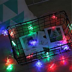 お買い得  LED ストリングライト-brelongクリスマスデコレーション20led snowflake string light 1 pc