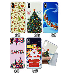 abordables Fundas para iPhone 6-Funda Para Apple iPhone XS / iPhone XS Max Diseños Funda Trasera Navidad Suave TPU para iPhone XS / iPhone XR / iPhone XS Max