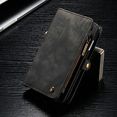 Недорогие Кейсы для iPhone-CaseMe Кейс для Назначение Apple iPhone 8 / iPhone 7 Кошелек / Бумажник для карт / со стендом Чехол Однотонный Твердый Кожа PU для iPhone 8 / iPhone 7