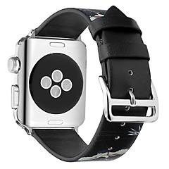 preiswerte Herrenuhren-Echtleder Uhrenarmband Gurt für Apple Watch Series 4/3/2/1 Schwarz / Gelb 23cm / 9 Zoll 2.1cm / 0.83 Inch