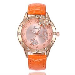 preiswerte Damenuhren-Damen damas Armbanduhr Quartz Armbanduhren für den Alltag PU Band Analog Schmetterling Modisch Schwarz / Weiß / Blau - Blau Rosa Hellblau
