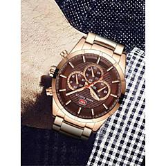 お買い得  メンズ腕時計-男性用 リストウォッチ 日本産 クォーツ 30 m 耐水 クロノグラフ付き 光る ステンレス バンド ハンズ バングル ファッション ローズゴールド - グレー コーヒー ブルー 2年 電池寿命