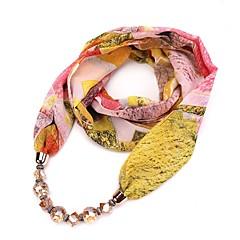 preiswerte Halsketten-Damen Lang Schal Halskette - Künstlerisch, Böhmische, Natur Niedlich Gelb, Rosa, Leicht Grün 180 cm Modische Halsketten Schmuck 1pc Für Neujahr, Geburtstag