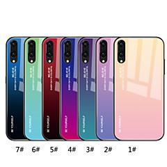 お買い得  Huawei Pシリーズケース/ カバー-ケース 用途 Huawei P20 Pro / P20 lite ミラー / パターン バックカバー カラーグラデーション ハード 強化ガラス のために Huawei P20 / Huawei P20 Pro / Huawei P20 lite