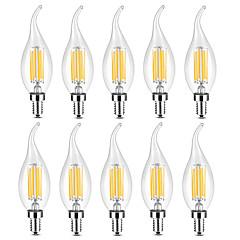 preiswerte LED-Birnen-YWXLIGHT® 10 Stück 6 W 500-600 lm E14 LED Kerzen-Glühbirnen / LED Glühlampen C35 6 LED-Perlen COB Warmes Weiß / Weiß 220-240 V