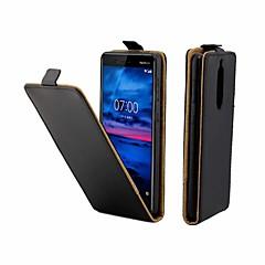 Недорогие Чехлы и кейсы для Nokia-Кейс для Назначение Nokia Nokia 7 Бумажник для карт / Флип Чехол Однотонный Твердый Кожа PU для Nokia 7