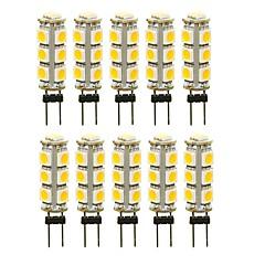 お買い得  LED 電球-SENCART 10個 3 W 180 lm G4 LED2本ピン電球 T 13 LEDビーズ SMD 5050 装飾用 温白色 / ホワイト / レッド 12 V