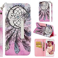 Недорогие Кейсы для iPhone-Кейс для Назначение Apple iPhone 7 Plus Кошелек / Бумажник для карт / Флип Кейс на заднюю панель Ловец снов Твердый Кожа PU для iPhone 7 Plus