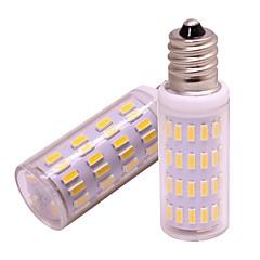 お買い得  LED 電球-2pcs 4 W 360 lm E12 LEDコーン型電球 63 LEDビーズ SMD 4014 新デザイン 温白色 / クールホワイト 12 V