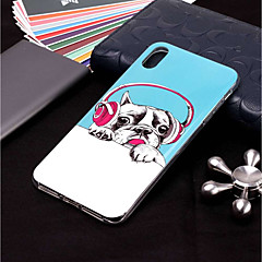 Недорогие Кейсы для iPhone X-Кейс для Назначение Apple iPhone XR / iPhone XS Max Сияние в темноте / С узором Кейс на заднюю панель С собакой Мягкий ТПУ для iPhone XS / iPhone XR / iPhone XS Max