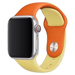 tanie Akcesoria do Apple Watch-Watch Band na Apple Watch Series 4/3/2/1 Jabłko Pasek sportowy / Klasyczna klamra Silikon Opaska na nadgarstek