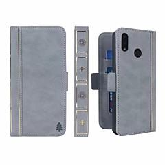 お買い得  Huawei Pシリーズケース/ カバー-ケース 用途 Huawei P20 Pro / P20 lite ウォレット / カードホルダー / 耐衝撃 フルボディーケース ソリッド ハード PUレザー のために Huawei P20 / Huawei P20 Pro / Huawei P20 lite