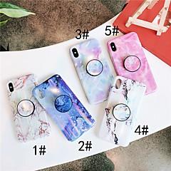 Недорогие Кейсы для iPhone 7 Plus-Кейс для Назначение Apple iPhone XR / iPhone XS Max со стендом / IMD Кейс на заднюю панель Мрамор Мягкий ТПУ для iPhone XS / iPhone XR / iPhone XS Max
